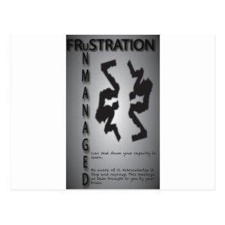 Frustration Postkarte