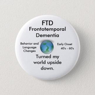 FTD, gedreht meinem Weltumgedrehten Knopf Runder Button 5,1 Cm