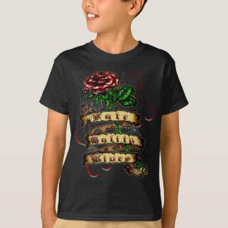 FTL - Rosen-Tätowierung scherzt dunklen T - Shirt