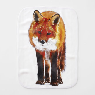 Fuchs Burpstoff, Waldbabygeschenk Baby Spucktuch