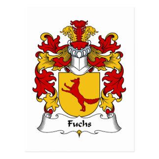 Fuchs Familienwappen Postkarte