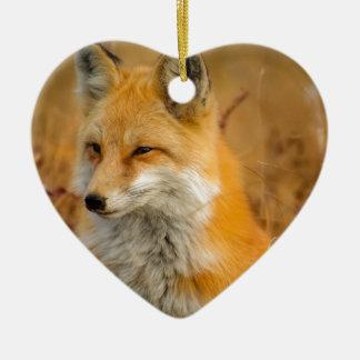 Fuchs Keramik Herz-Ornament