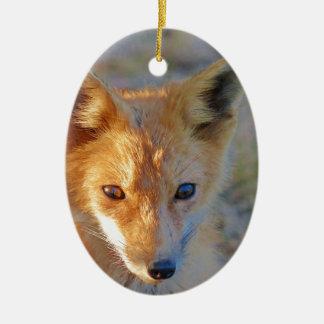 Fuchs Ovales Keramik Ornament