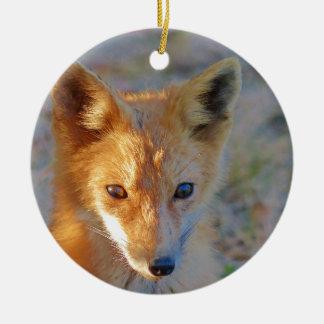 Fuchs Rundes Keramik Ornament