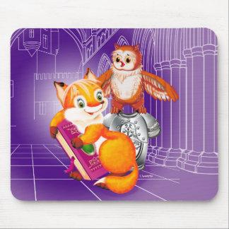 Fuchs und Eule Mousepad