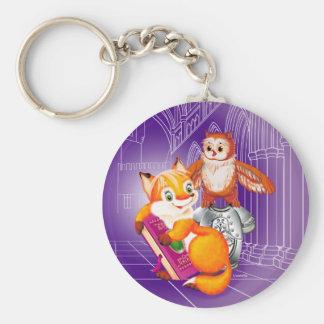 Fuchs und Eule Schlüsselanhänger