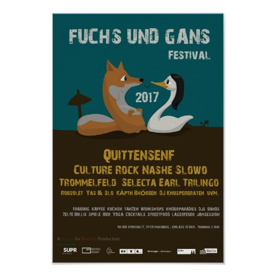 Fuchs und Ganz Festival Poster