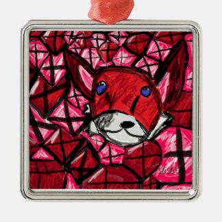 Fuchs und rubys silbernes ornament