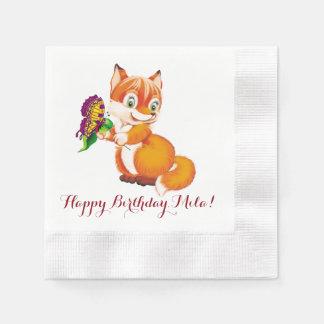 Fuchs und Schmetterling Serviette