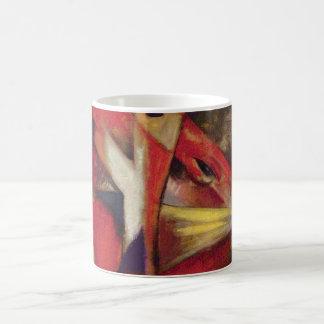 Füchse durch Franz Marc, Vintage abstrakte Kaffeetasse