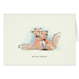 Füchse in der Liebe: Mit vieler Zuneigung Grußkarten