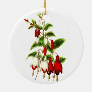 Fuchsie Keramik Ornament