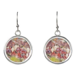 Fuchsien in den Blüten-Ohrringen Ohrringe