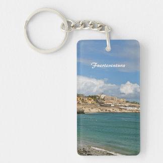 Fuerteventura Einseitiger Rechteckiger Acryl Schlüsselanhänger