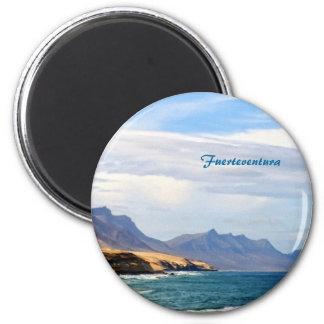 Fuerteventura, malender Effekt Runder Magnet 5,7 Cm