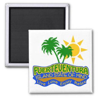 Fuerteventura-Staat des Sinnesmagneten Quadratischer Magnet