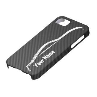 """""""Füge Deinen Namen zu"""" - Kohlefaser-Imitat iPhone 5 Etuis"""