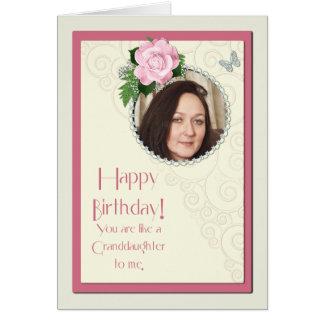 Fügen Sie ein Bild, wie eine Enkelin, Geburtstag Karte