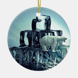 Fügen Sie hinzu, SLOGAN zu besitzen, um arktischen Keramik Ornament