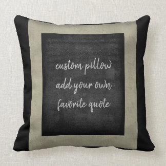 fügen Sie Ihr eigenes Zitatkissen für Kissen