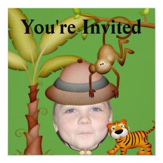 Fügen Sie Ihr Foto einem wilden Quadratische 13,3 Cm Einladungskarte