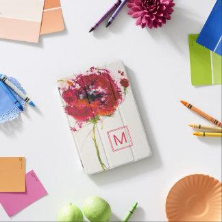 Fügen Sie Ihre Mohnblume des Monogramm-| auf Weiß iPad Mini Hülle