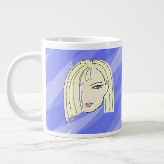 Fügen Sie Ihren Namen auf guter Morgen-Tasse hinzu Jumbo-Tasse