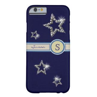 fügen Sie Initiale den Sternen hinzu Barely There iPhone 6 Hülle