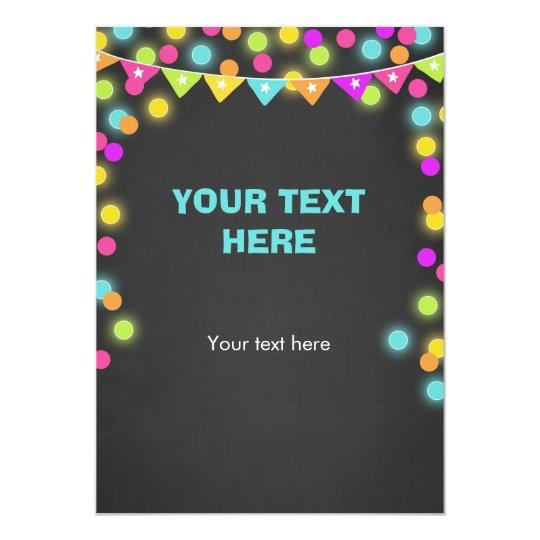 Fügen Sie Karte Neonglühen in den dunklen 12,7 X 17,8 Cm Einladungskarte