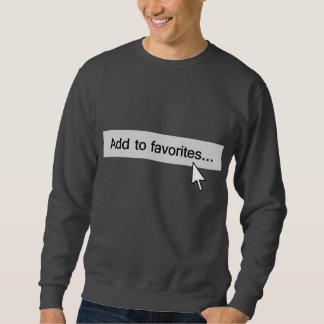 Fügen Sie Lieblings-Computer Mouseover hinzu Sweatshirt