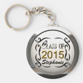 Fügen Sie Namensklasse von Abschluss 2015 Keychain Standard Runder Schlüsselanhänger