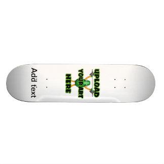 Fügen Sie Text diesem coolen Leopard Skateboard Personalisierte Skateboards