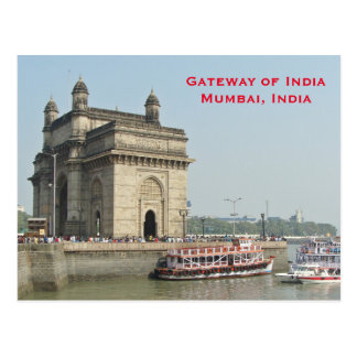 Fügen Vintage Tourismus-Reise Mumbais Indien hinzu Postkarte