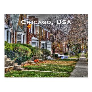 Fügen Vintager Reise-Tourismus Chicagos, USA hinzu Postkarte