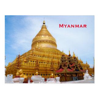 Fügen Vintager Reise-Tourismus Myanmar hinzu Postkarte