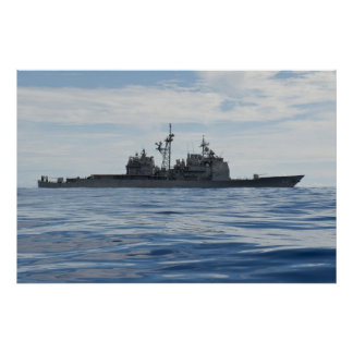Führen-Raketenkreuzer USS Cowpens (CG-63) Poster