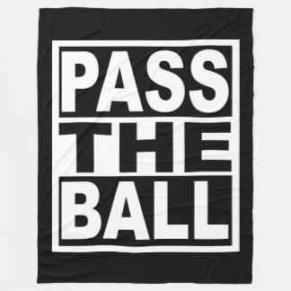 Führen Sie den Ball Fleecedecke