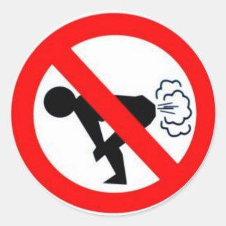 führen Sie kein Gas Runder Aufkleber