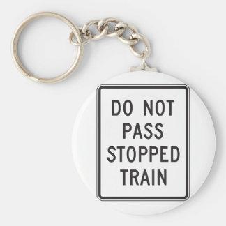 Führen Sie nicht gestoppten Zug Keychain Schlüsselanhänger