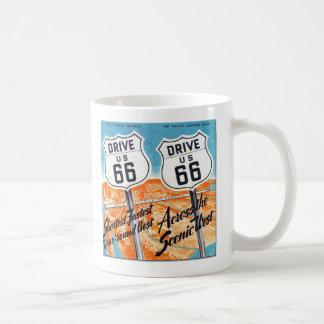 Führer-Kaffee-Tasse Antrieb US-Weg-66 Retro Kaffeetasse