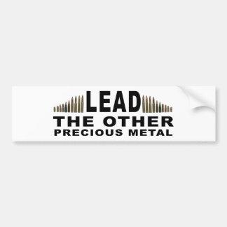 FÜHRUNG - das andere wertvolle Metall Autoaufkleber