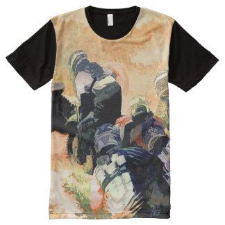 Führung den Satz - Motocross-Rennläufer T-Shirt Mit Komplett Bedruckbarer Vorderseite