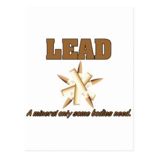 Führung. Ein Mineral nur Bedarf einiger Körper Postkarte