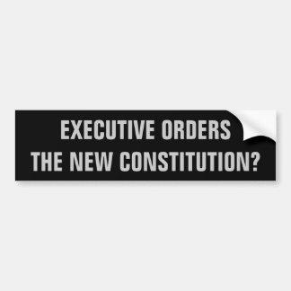 Führungskraft-Aufträge, die neue Konstitution? Autoaufkleber