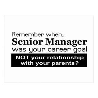 Führungsstab-Karriere-Ziel-Postkarte Postkarte