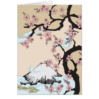 Fuji und Kirschblüte-Karte Karte