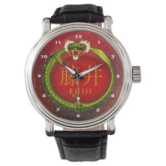 Fujii Monogramm-Drache Armbanduhr