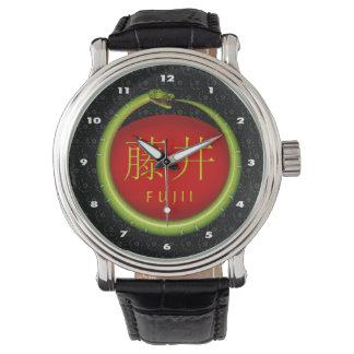 Fujii Monogramm-Schlange Uhr