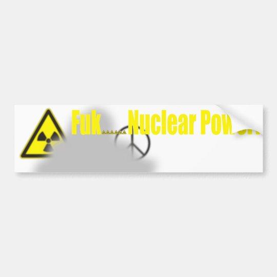 Fukushima-Lektion Autoaufkleber