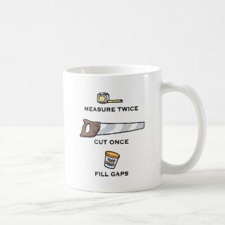 Füllen Sie Abstände Kaffeetasse